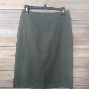 Theory Gray Wool Pencil Skirt side zipper size 6